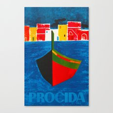 Vintage Procida Italy Travel Canvas Print