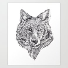 Hungry like the Wolf Art Print