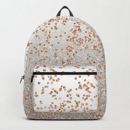 Glitter sparkle mix - rose gold & silver Backpack