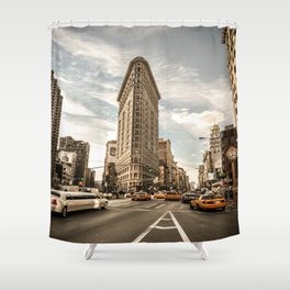 FlatIron - Midday Rush Shower Curtain