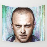 jesse pinkman Wall Tapestries featuring Jesse Pinkman by Olechka