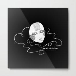 Doll Face Blackie Metal Print