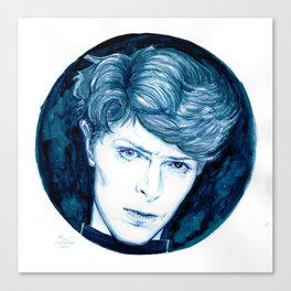 Planet Earth is Blue // Bowie Canvas Print