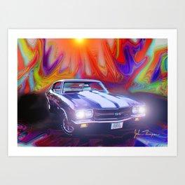 70 454 Chevelle SS Art Print