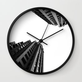 Architecture Minimalism Black and White Photography Wall Clock