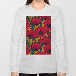 Red poppy garden    Long Sleeve T-shirt