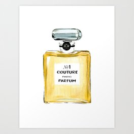 Yellow Parfum Art Print