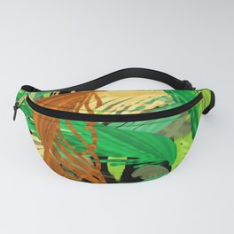 Into the jungle digital painting Fanny Pack