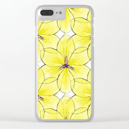 Flower Sketch 3 Clear iPhone Case