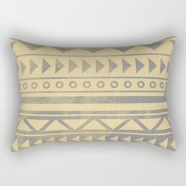 Ethnic geometric pattern with triangles circles and lines Rectangular Pillow