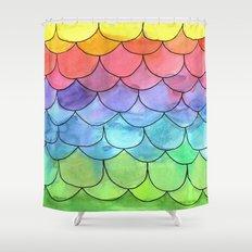 Rainbow Scales Shower Curtain