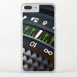 Retro photo camera lens Clear iPhone Case