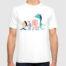 Parade White Mens Fitted Tee MEDIUM