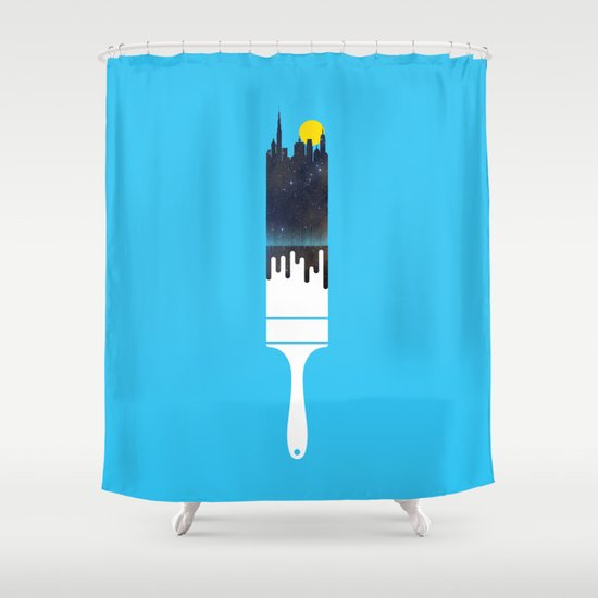 Paint the Town Shower Curtain