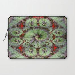 Escargot Begonias Abstract Laptop Sleeve