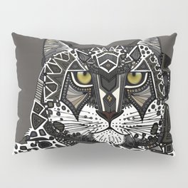 snow leopard lead Pillow Sham