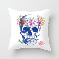 Halloween Skull Throw Pillow