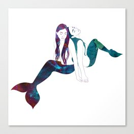 Two Mermaids Canvas Print