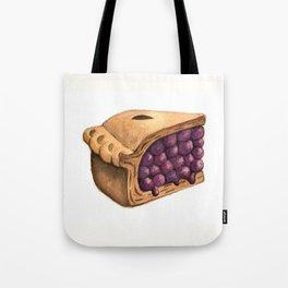 Blueberry Pie Slice Tote Bag