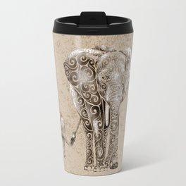 Swirly Elephant Family Travel Mug