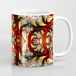 Fractal Art - Spiral in red and gold Coffee Mug