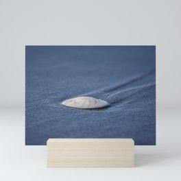 Leaving Tracks washed up sand dollar Mini Art Print