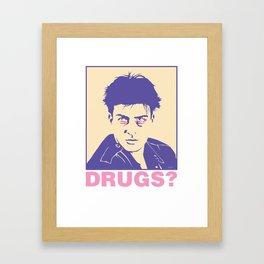 DRUGS? Framed Art Print