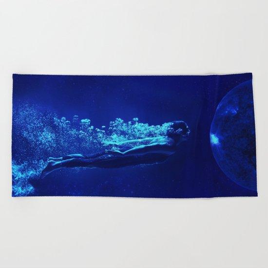 Space Diver Beach Towel