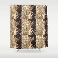 derek hale Shower Curtains featuring Derek by Probably Plaid