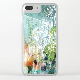 ArchiCollage - Secret Garden Clear iPhone Case