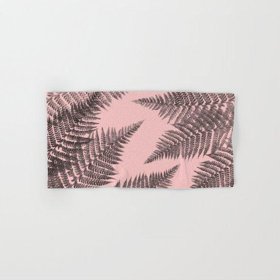 Ferns on Pink Hand & Bath Towel