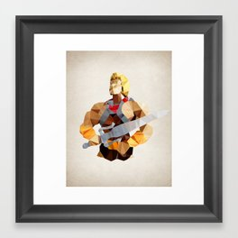 Polygon Heroes - He-Man Framed Art Print