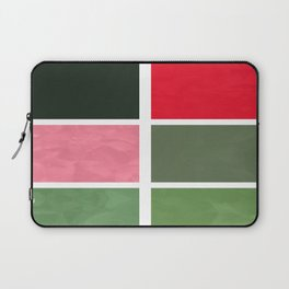 Pink Roses in Anzures 5  Abstract Rectangles 1 Laptop Sleeve