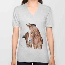Foal horse baby animal Unisex V-Neck