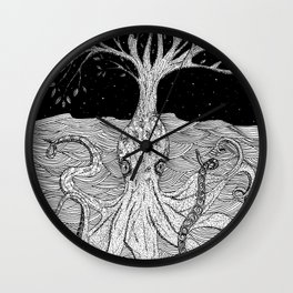 Octopus Tree Wall Clock