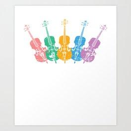 Colorful Cellos Art Print
