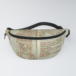 Folding Almanac of Astrological Man, linking astrology to medicine (1463) Fanny Pack