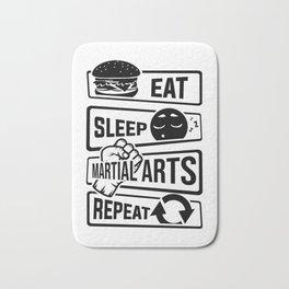 Eat Sleep Martial Arts Repeat - Martial Art Fight Bath Mat