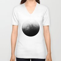 antique V-neck T-shirts featuring Abstract IV by morenina