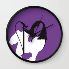 No081 MY RED HOT CHILLI PEPERS Minimal Music poster Wall Clock