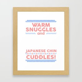 Japanese Chin Ugly Christmas Sweaters Framed Art Print