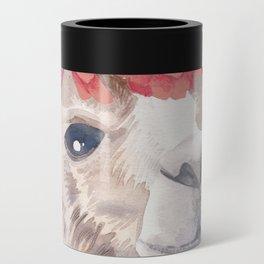 Flower Crown Llama Can Cooler