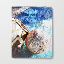 Baseball artwork vs cx 2 Metal Print