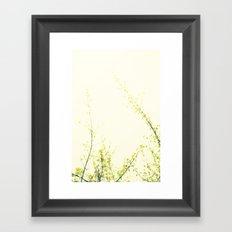 Her Thoughts Were Like Flowers Floating to the Sky Framed Art Print