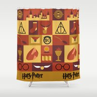 potter Shower Curtains featuring Potter by Polvo