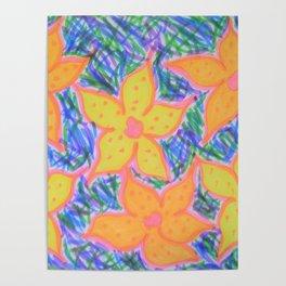 Refreshing Summer Flowers Poster