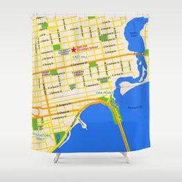 Map of Pensacola, FL - East Hill Christian School Shower Curtain
