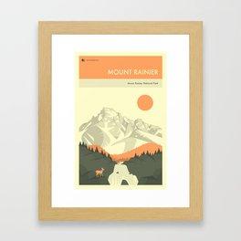 MOUNT RAINIER NATIONAL PARK POSTER Framed Art Print