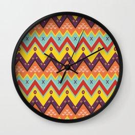 Batik Style 6 Wall Clock