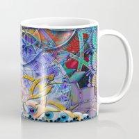 shiva Mugs featuring Space Shiva by BradButler